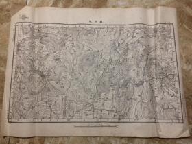 【民国地图】罗田县(湖北省)地形图