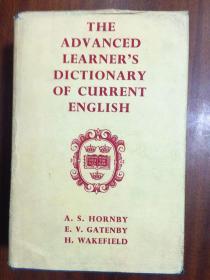 英国进口原版词典 带护封,无笔迹划痕,无签名。馆藏。牛津高级英语学习辞典 第一版 The Advanced Learner s Dictionary of Current English