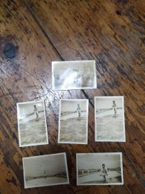 五十年代嘉定南站骑自行车游玩照片6张合售