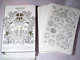 魔法森林——官方最新卡片式涂色本POT  CARD(40张手绘涂色卡线稿)