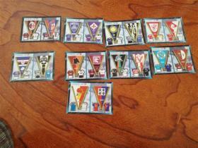 足球俱乐部收藏卡 9张