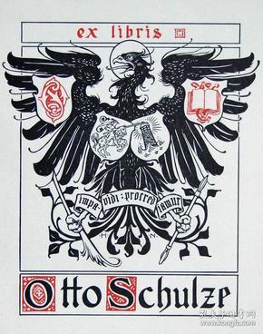 """""""新艺术名作""""英国艺术家""""Harold E.H.Nelson""""线刻徽章藏书票"""