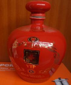 收藏酒瓶 飞天图富贵花红釉酒瓶高20厘米三斤装 无磕碰(x8)