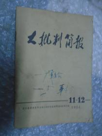 大批判简报 1971