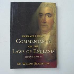 Extracts from Commentaries on the Laws of England