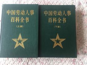 中国劳动人事百科全书(上下册)硬精装、近九品