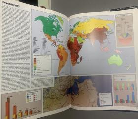 简明泰晤士布面书脊地图集历史精装世界烫银日本活性氧化镁图片
