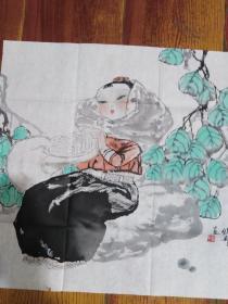 中国美协会员福建美协理事 巫维轩 人物画精品附出版物