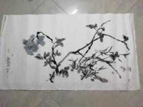 广东著名青年画家 林于思 画一幅  138 X 70CM
