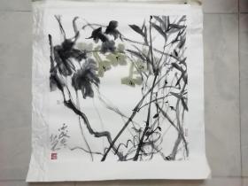 广东著名青年画家 林于思 画一幅  69 X 66CM