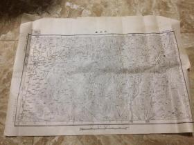 【民国地图】麻城县(湖北省麻城县 罗田县)地形图