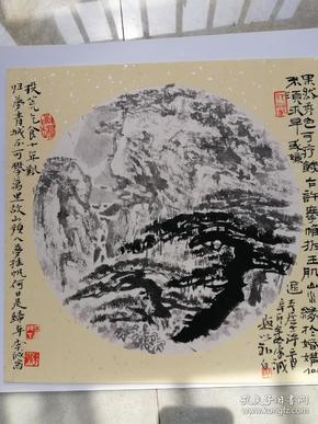 山水小品,松风图2011年(画家本人提供)