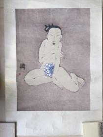 李晶彬 人物画 水印