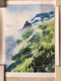 庐山望江 山水画