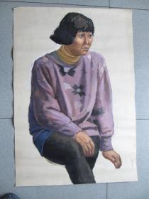 董迎宝 (中国版画家协会会员)水彩画人物