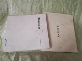 聚焦70后:水墨状态 (12开) + 中国戏曲水墨扇面邀请展:粉墨风雅(12开)二册合售