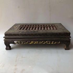 木胎漆器描金精打细算算盘桌摆件 早期富贵豪门账房专用
