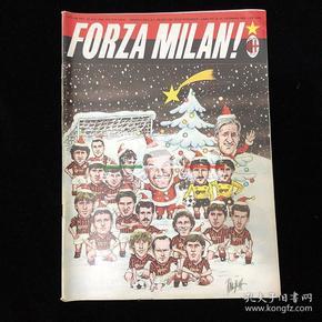 意大利 意甲 足球 FORZA MILAN 队刊 杂志 ac米兰 1984年第12期