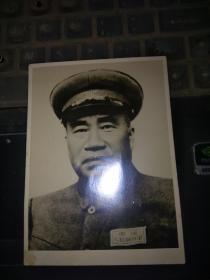 五十六年代老相片,朱德司令(尺寸11.5*8CM)
