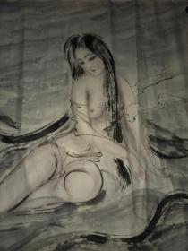 著名画家孙菊生弟子王普选老师(巫山神女)作品一副