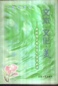 文本 文化 美——新时期云南文学人类学批评