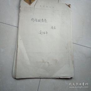 七十年代南昌省直美术作者调查表33份合售(名家杨石朗,黄本贵,金晨,阮诚等33位资料,每份都盖有单位公章)