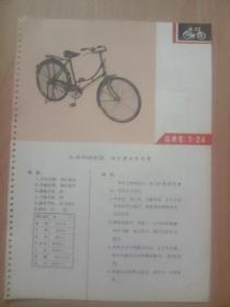 """商标---天津红旗牌08型26""""标定型女自行车(文革品,印毛主席语录)"""