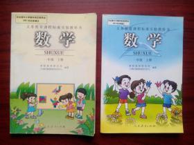 小学数学一年级上册,下册.小学数学2001年1版,小学数学1年级上册,下册a