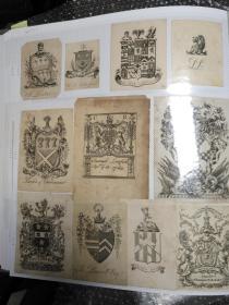 1699年至1910年 英国徽章纹样藏书票 17册共约6600枚合售