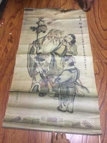 英商利华公司赠 (三多衍庆)广告画 尺寸为84*45cm