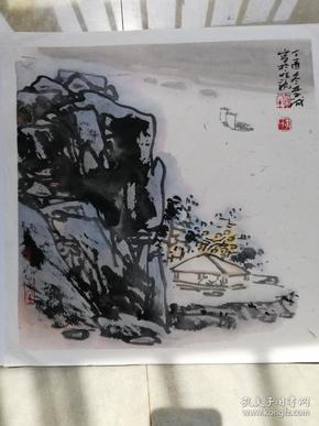 江边对弈2017年(画家本人提供)