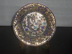 景泰蓝龙纹赏盘(摆件) 直径尺寸:20厘米