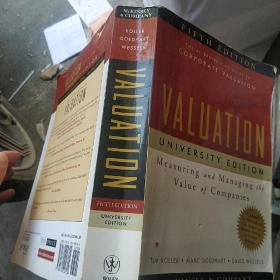 Valuation: Measuring and Managing the Value of Companies  评估:衡量与管理公司价值,大学版,第5版