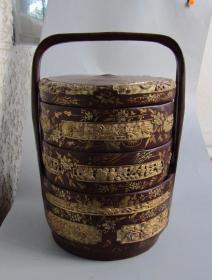 民国竹胎漆器提盒