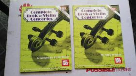 老乐谱  英文原版 MEL BAY PRESENTS COMPLETE  BOOK  OF VIOLIN  CONCERTOS   梅尔湾推出完整的小提琴协奏曲集  共二册【二册合售】