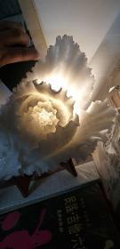 工艺品 白菜,有底座,很重,晶莹剔透。。长30厘米,,,优惠出售,