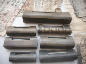 清代老【铜锁】7把,均无钥匙,有2把缺零件,最大的长14厘米,最小的长6.5厘米