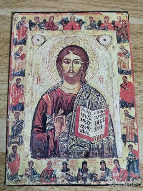 民国 明信片基督是使徒和世俗的主人  基督像 布尔加里 发表在保加利亚 货号AA5