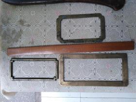 清代铜镇纸3个