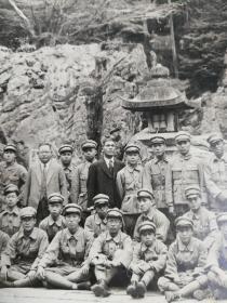 昭和初年日本军人外游大幅照片