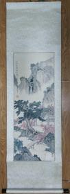 手绘真迹国画:林秀华山水画《山水清风真自然》立轴