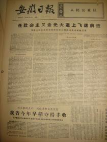 《安徽日报》【霍邱县委认真学习毛主席和党中央的重要指示,进一步做好知识青年上山下乡工作;她们在茁壮成长——记十五名上海女知识青年建设邵集集体林场的事迹,有照片】