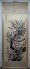清风阁画廊-著名画家-陶冷月-梅花(纯手绘)-立轴-3016