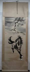 清风阁画廊-著名书画家-徐悲鸿-单马(纯手绘)-立轴-3017