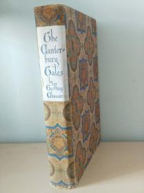 The canterbury tales《坎特伯雷故事集》geoffrey chaucer 乔叟经典名著 The heritage press 1946年布面精装