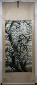 清风阁画廊-著名画家-陶冷月-梅花(纯手绘)-立轴-3022