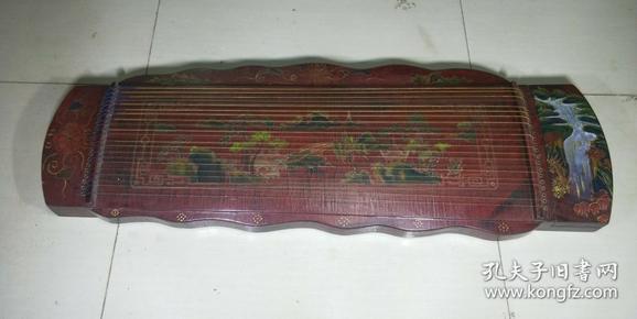 民间祖传 漆器古筝(可使用)