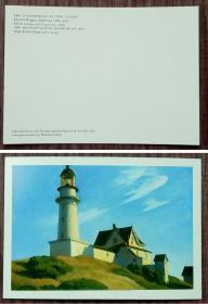 外国明信片,美国画家霍普,美术绘画,品如图