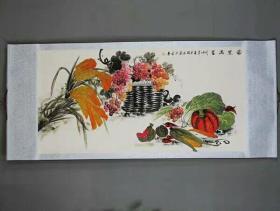 国画壁画水果满框