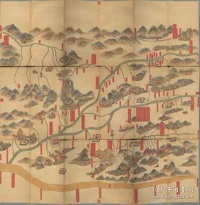 《河南全省河图》《河南老地图》《孟津老地图》《华县老地图》《偃师老地图》《洛阳老地图》《新安老地图》《渑池老地图》《宜阳老地图》《登封老地图》,清中期河南全省河流详图,开幅巨大80*84CM,图中附河流地理信息。原图现藏国外,原图高清复制。